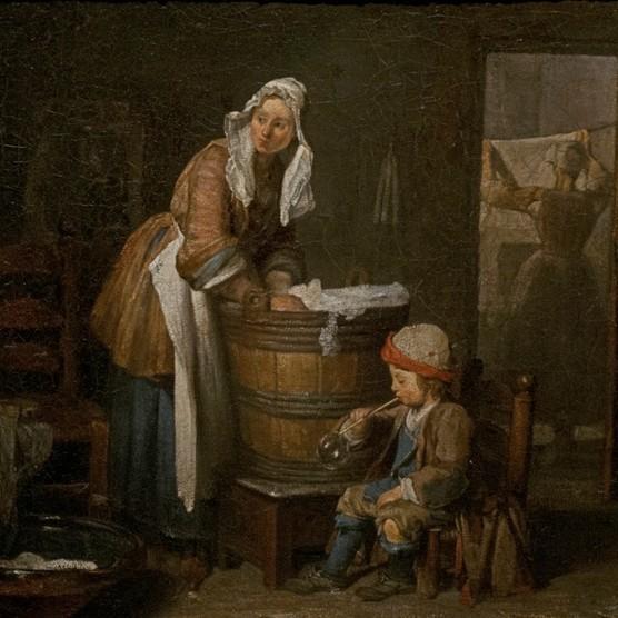 'The Washerwoman' by French painter Jean Simeon Chardin (1699-1779). National Museum, Stockholm, Sweden. (Photo by PHAS/UIG via Getty Images)