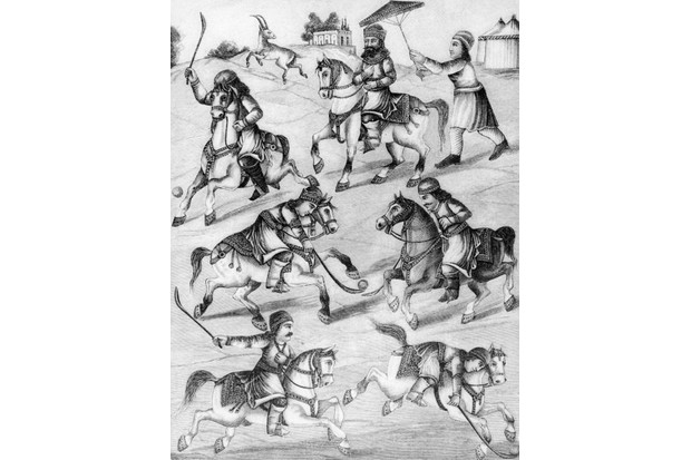 An illustration from the epic poem 'The Shahnameh' by the Persian poet Ferdowsi, depicting a game of polo, c 1000. (Photo by Hulton Archive/Getty Images)