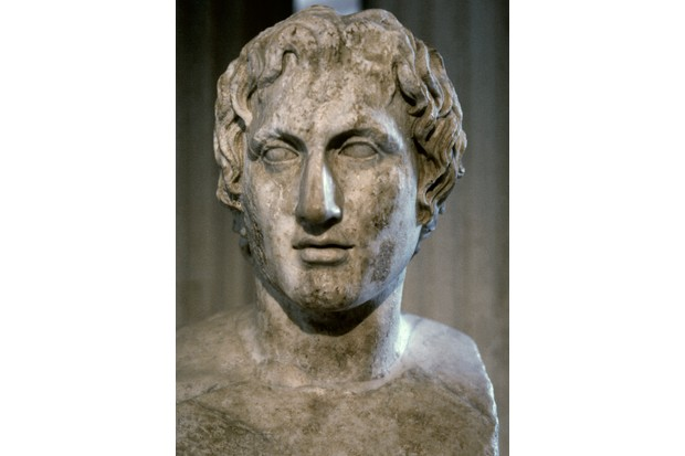 The Azara herm, a Roman copy of a bust of Alexander the Great, thought to be by the Greek sculptor Lysippus. (Photo by: PHAS/UIG via Getty Images)