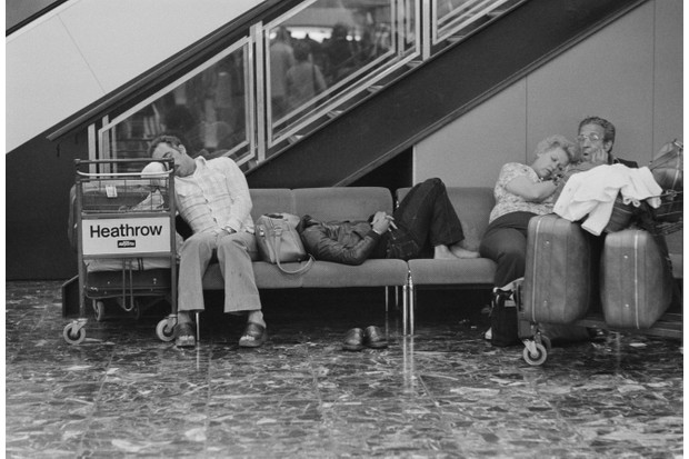 Passengers waiting at Heathrow Airport, 31 July 1978. (Photo by Evening Standard/Getty Images)