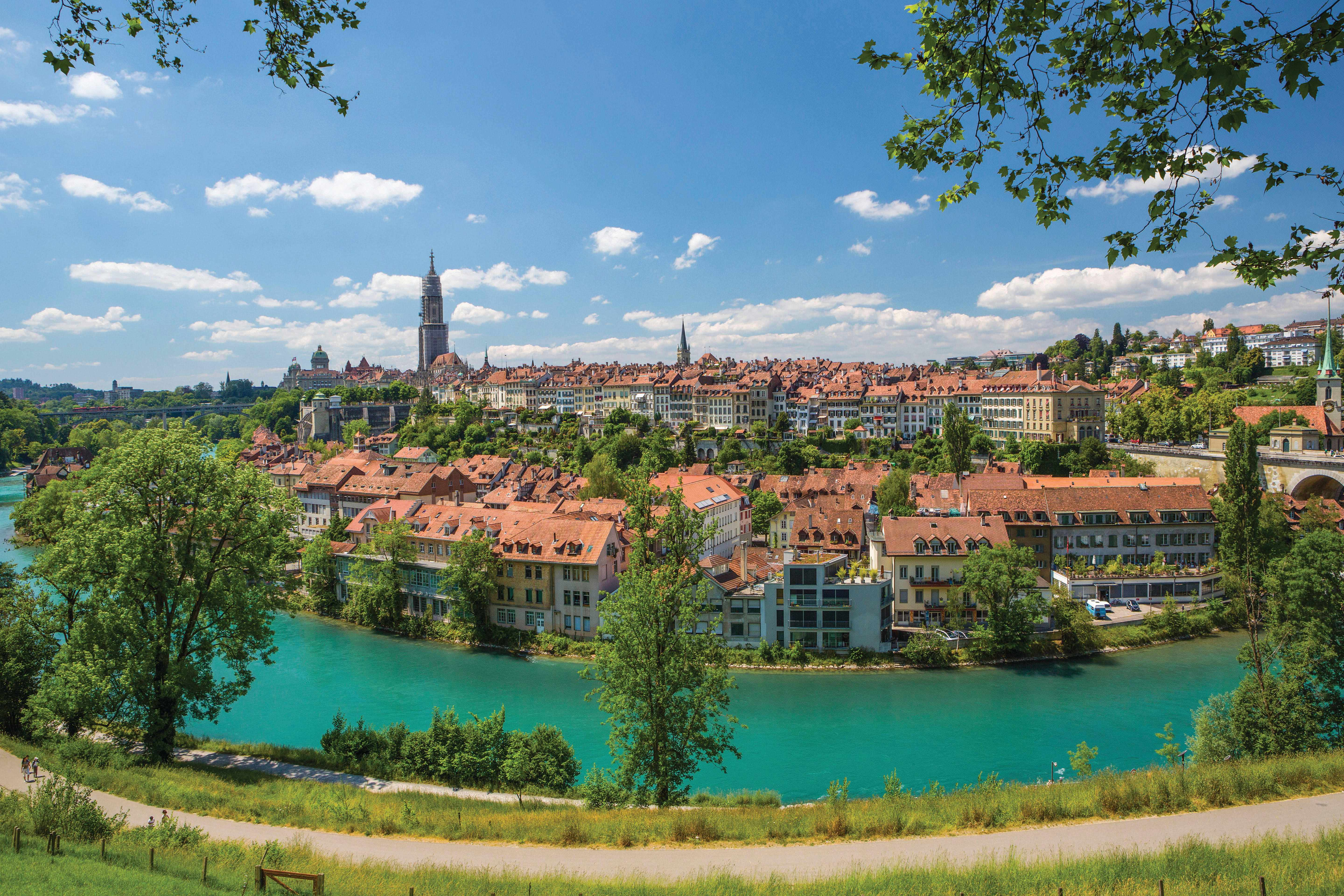 """The city of Bern, Switzerland. """"I lived in Bern as a young lecturer, and I still feel positive about its effect on my life and writing,"""" says Seán Williams. (Photo by Chinnaphong Mungsiri via Getty Images)"""