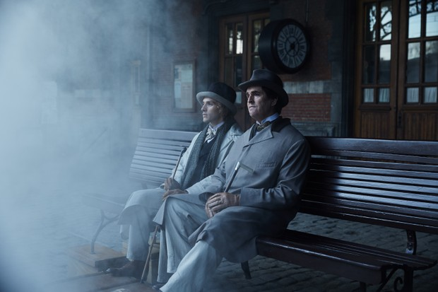 In The Happy Prince, Wilde and Bosie (played by Colin Morgan) are briefly reunited. (Lionsgate)
