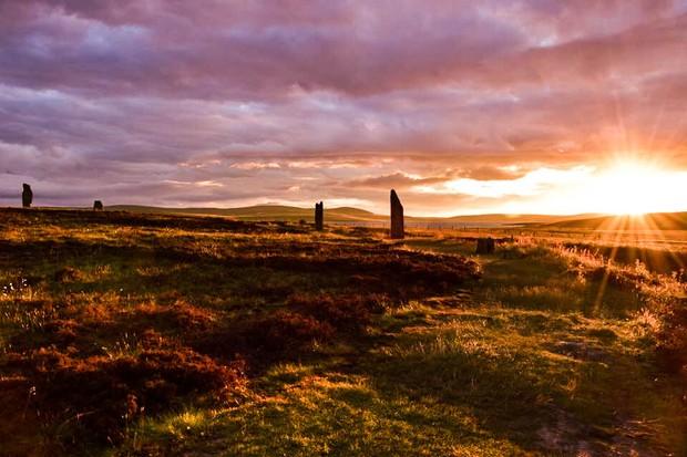 Ring of Brodgar henge and stone circle, Orkney Isles By Rachel Glaves - Mirfield, UK (top shot)