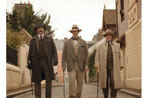Colin Firth, Rupert Everett and Edwin Thomas in 'The Happy Prince'. (Photo by Lionsgate)