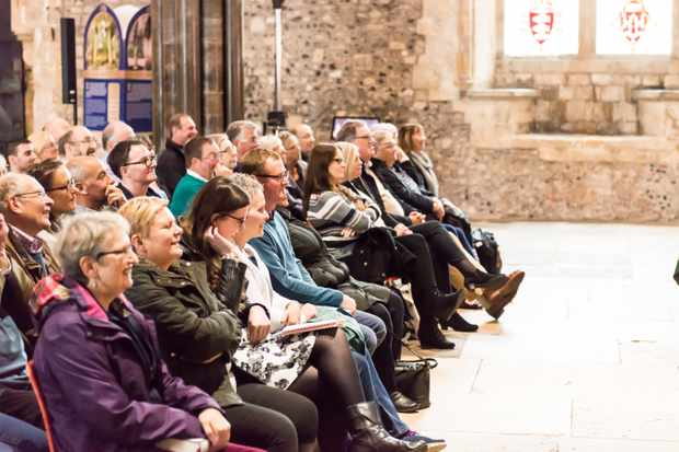 Audience at Winchester History Weekend 2017.