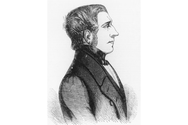 An illustration of Scottish woodturner Daniel McNaughton, c1840. (Photo by Illustrated London News/Hulton Archive/Getty Images)