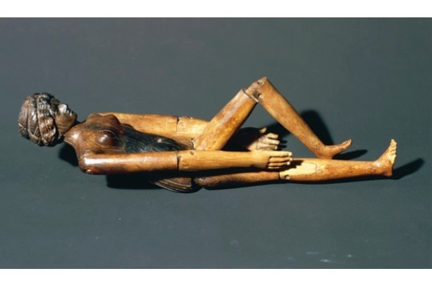 Wooden doll from the sarcophagus of Crepereia Tryphaena. (Getty Images)