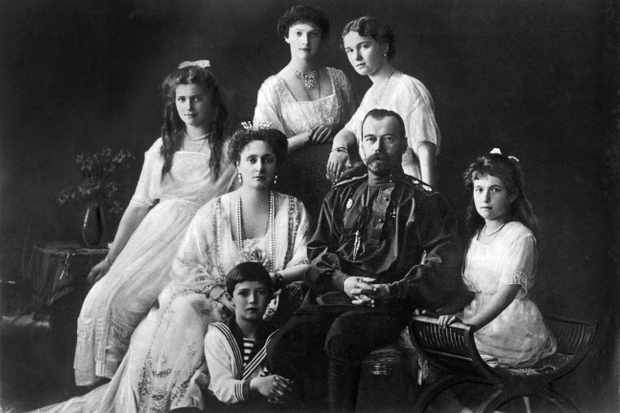 The last Russian royal family, Tsar Nicholas II and Tsarina Alexandra and their five children, were shot and bayonetted to death by their Bolshevik guards in the early hours of 17 July 1918. (Photo by Mondadori Portfolio via Getty Images)
