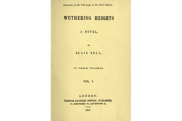 The title page of the first edition of 'Wuthering Heights', 1847. (Photo by Culture Club/Getty Images)