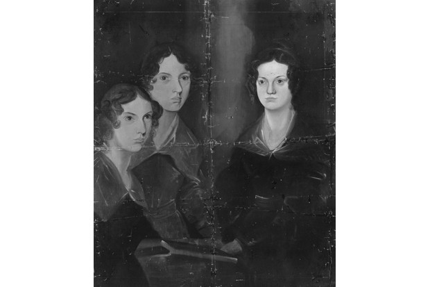 A painting by Patrick Branwell Brontë of his sisters Anne, Emily and Charlotte Brontë, c1834. (Photo by Rischgitz/Getty Images)