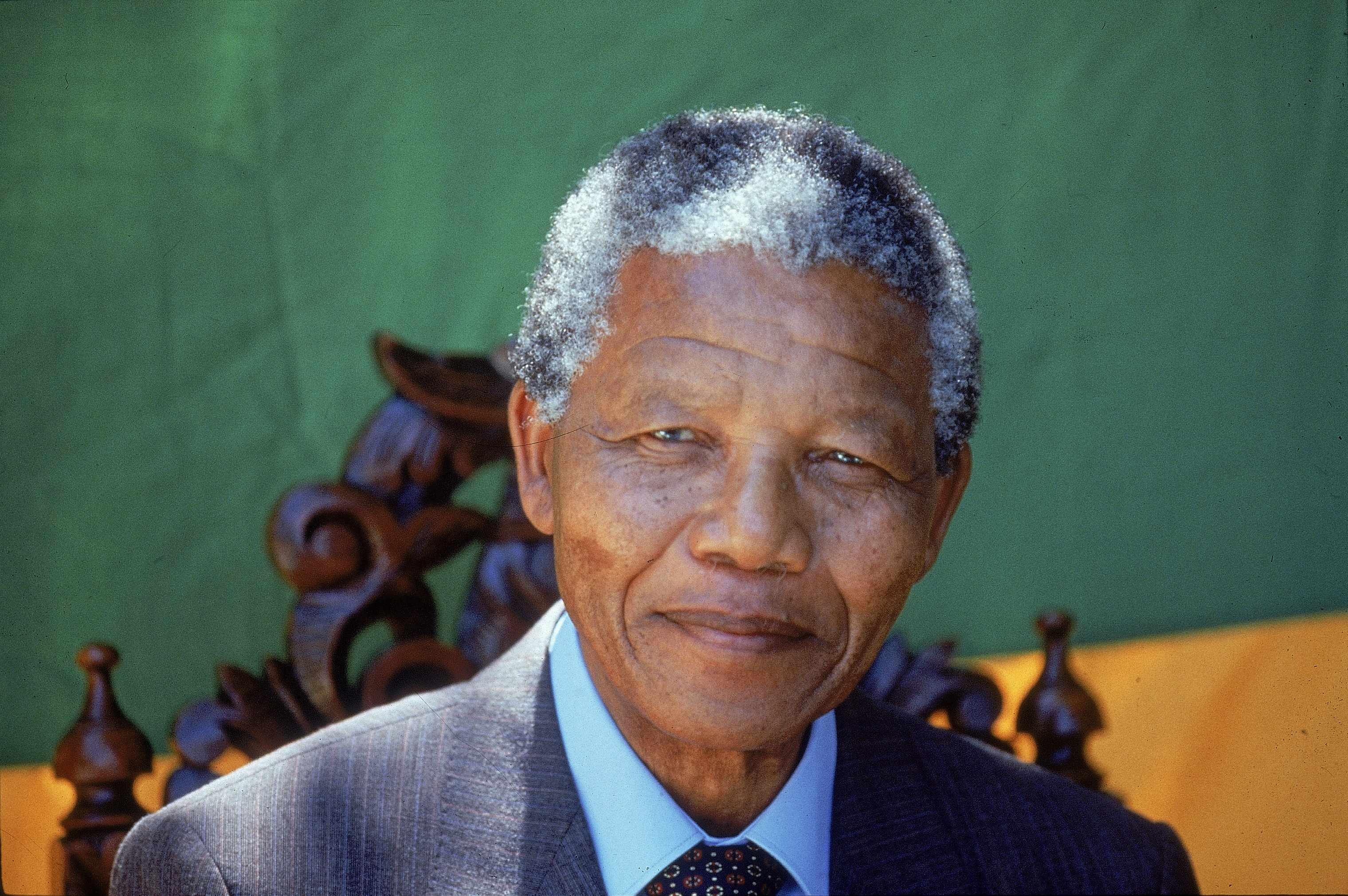 A photograph of Nelson Mandela. Peter Hain told the History Extra podcast about the South African leader's remarkable achievements in the face of tremendous adversity. (Photo by Allan Tannenbaum/The LIFE Images Collection/Getty Images)