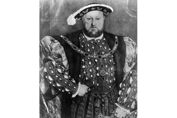 c1520, Henry VIII, from a painting by Hans Holbein the Younger. (Photo by Hulton Archive/Getty Images)