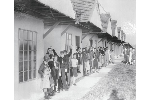 Refugees at Dovercourt, Essex, where the holiday camp served as a holding shelter until the children were found foster homes. (Photo by Bettmann/Getty Images)