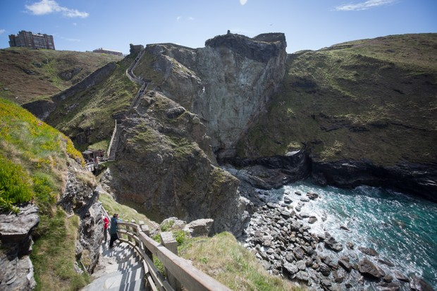 The ruins of Tintagel Castle in Tintagel, Cornwall, where, according to Geoffrey of Monmouth, King Arthur was conceived. (Photo by Matt Cardy/Getty Images)