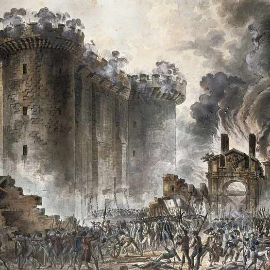 A contemporary illustration of the Storming of the Bastille, 14 July 1789 – an event that helped create the idea of 'revolution' as we know it today. (Photo by Fine Art Images/Heritage Images/Getty Images)