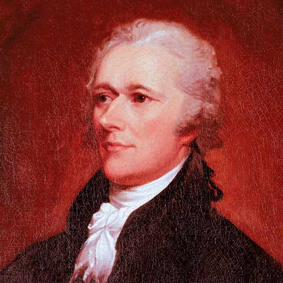 Portrait of founding father Alexander Hamilton by John Trumbull, c1806. (Photo by National Gallery Of Art/The LIFE Images Collection/Getty Images)
