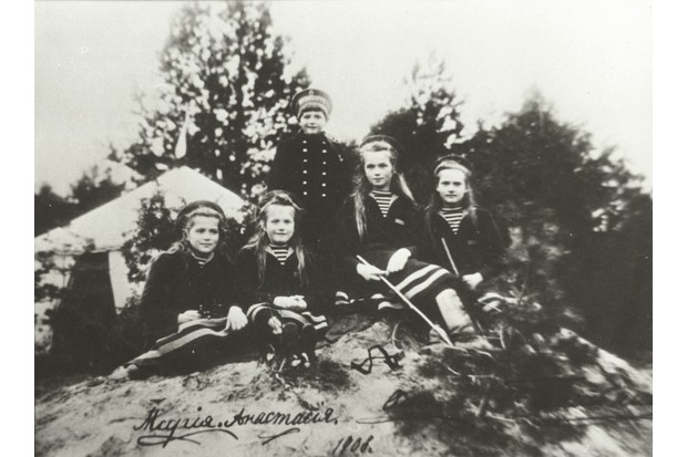 The Romanov children: Tatiana, Maria, Alexei, Olga and Anastasia, photographed c1910. (Photo by Laski Diffusion/Getty Images)