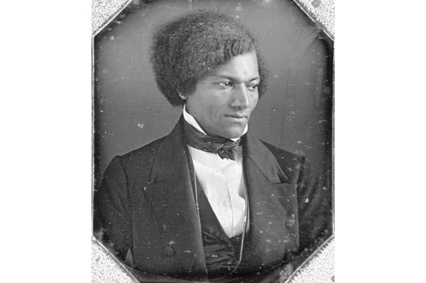 "A portrait of American abolitionist Frederick Douglass, who found fault with the hypocrisy of the Declaration of Independence, which proclaimed ""all men are created equal"" while treating more than 10 per cent of its population as slaves. (Photo by Fotosearch/Getty Images)"