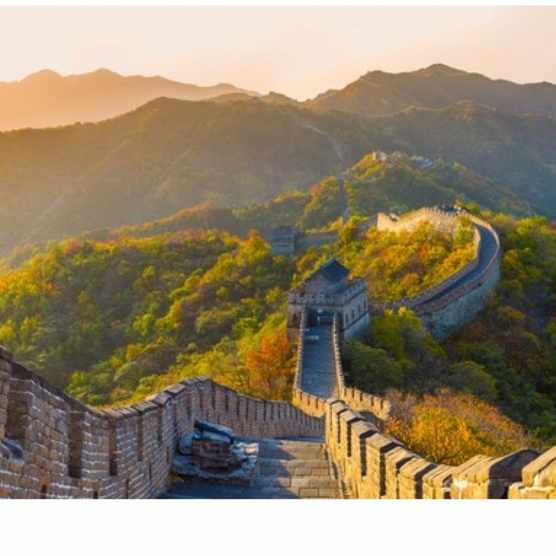 The stretch of the Great Wall at Mutianyu was first built in the sixth century by was largely reconstructed with grate around 1569. (Getty Images)