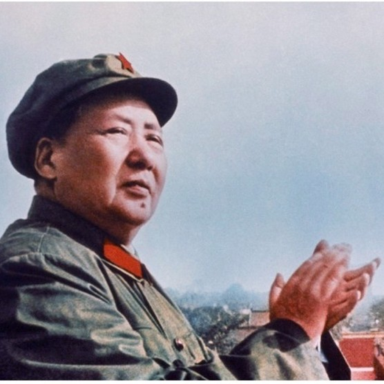 Mao Zedong applauds a parade of Red Guards in Tiananmen Square, Beijing. These young militants followed Mao's call in early August 1966 to defend the party from a 'white terror'. (Photo by Universal History Archive/UIG via Getty Images)