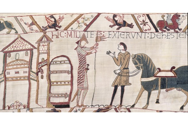 Fig 4: the largest equine penis in the Bayeux Tapestry belongs to the horse presented by a groom to Duke William, just prior to the battle of Hastings, says George Garnett. (© Bayeux Museum)