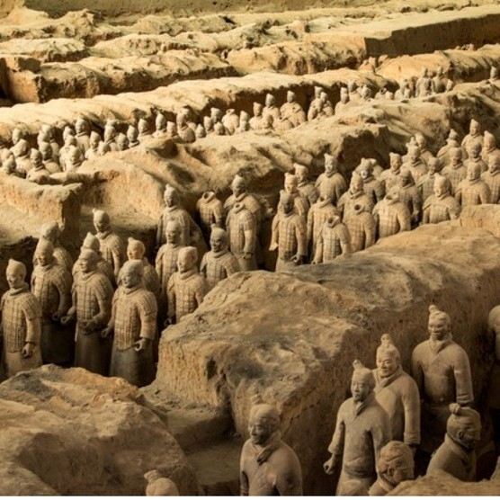 An overview of the Terracotta Warriors in the Terracotta Museum of Xian, China. (Image by Getty)