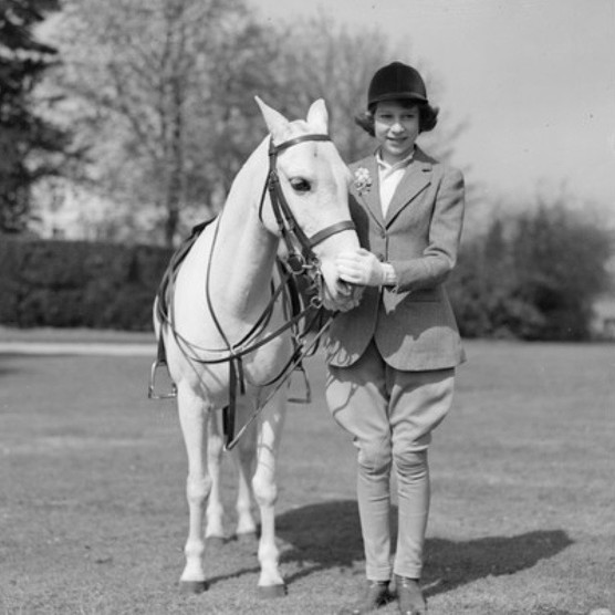 The young Princess Elizabeth with a pony, c1939. (Photo by Central Press/Getty Images)