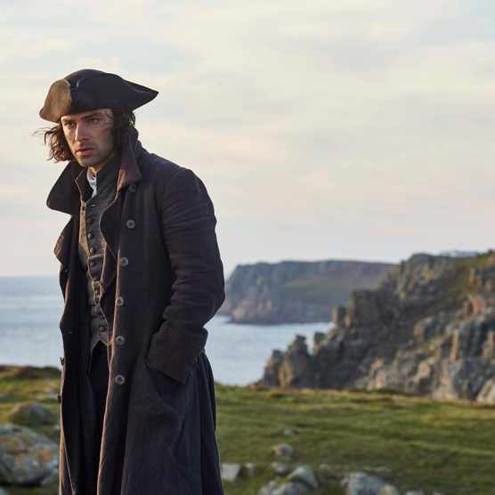 "Aidan Turner as Ross Poldark. The BBC television drama is putting Cornwall's coastline at risk of ""over-tourism"" as visitors flock to the area to visit the show's scenic filming locations, tourism chiefs have warned. (Photo by BBC/Mammoth Screen/Mike Hogan)"
