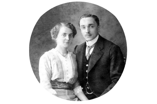 Friedrich and his wife, Pauline Kellner, pictured on their first wedding anniversary in 1914. (Photo from Kellner family archive)