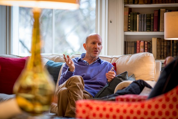 Simon Sebag Montefiore in conversation about his book, <em>The Romanovs</em>. (Photo by Helen Atkinson for BBC History Magazine)