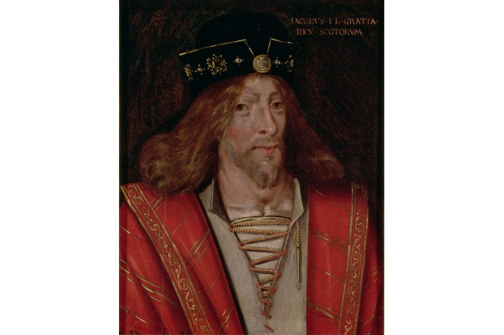 A portrait of King James I of Scotland. James was taken prisoner by the English in 1406, and it would be 18 years before he was freed to take the reins of power in his native nation. (Photo by Bridgeman Art Library)