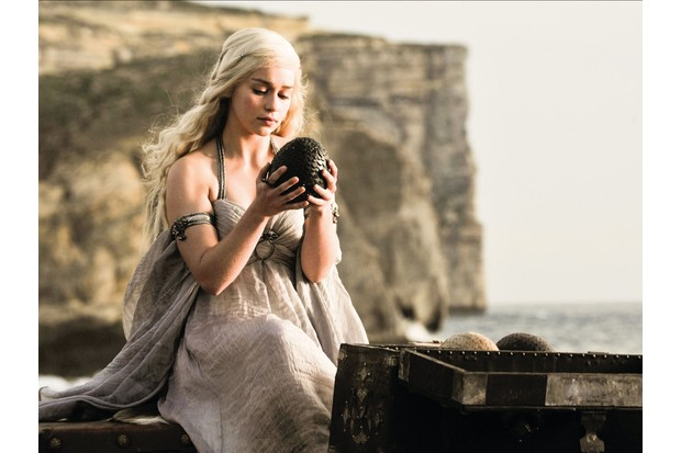 Emilia Clarke as Daenerys Targaryen in 'Game of Thrones'. (Photo by AF archive/Alamy Stock Photo)