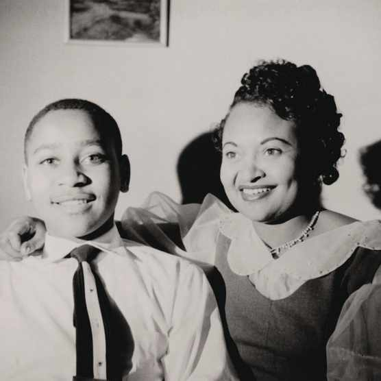 Emmett Till pictured with his mother, Mamie Till Bradley, in the early 1950s. (Photo by Alamy)