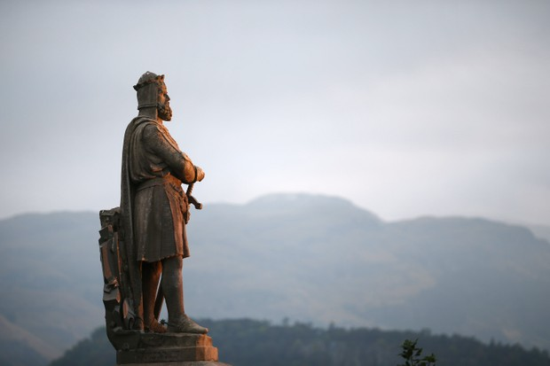 A statue of Scottish King Robert the Bruce in Stirling, Scotland. (Photo by Peter Macdiarmid/Getty Images)