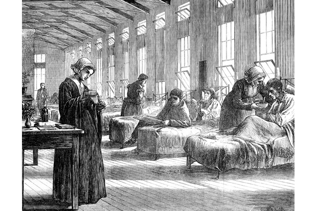 Associated in the public psyche with poverty during Victorian times, those who could afford a private doctor stayed away from the hospital at almost any cost. This illustration from The Illustrated London News depicts a ward in the Hampstead Smallpox Hospital, c1871. (Photo by Oxford Science Archive/Print Collector/Getty Images)