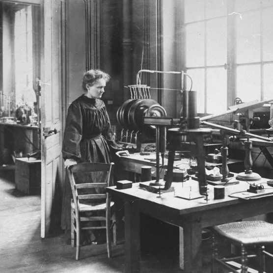 Marie Curie in her laboratory. (Photo by Time Life Pictures/Mansell/The LIFE Picture Collection/Getty Images)