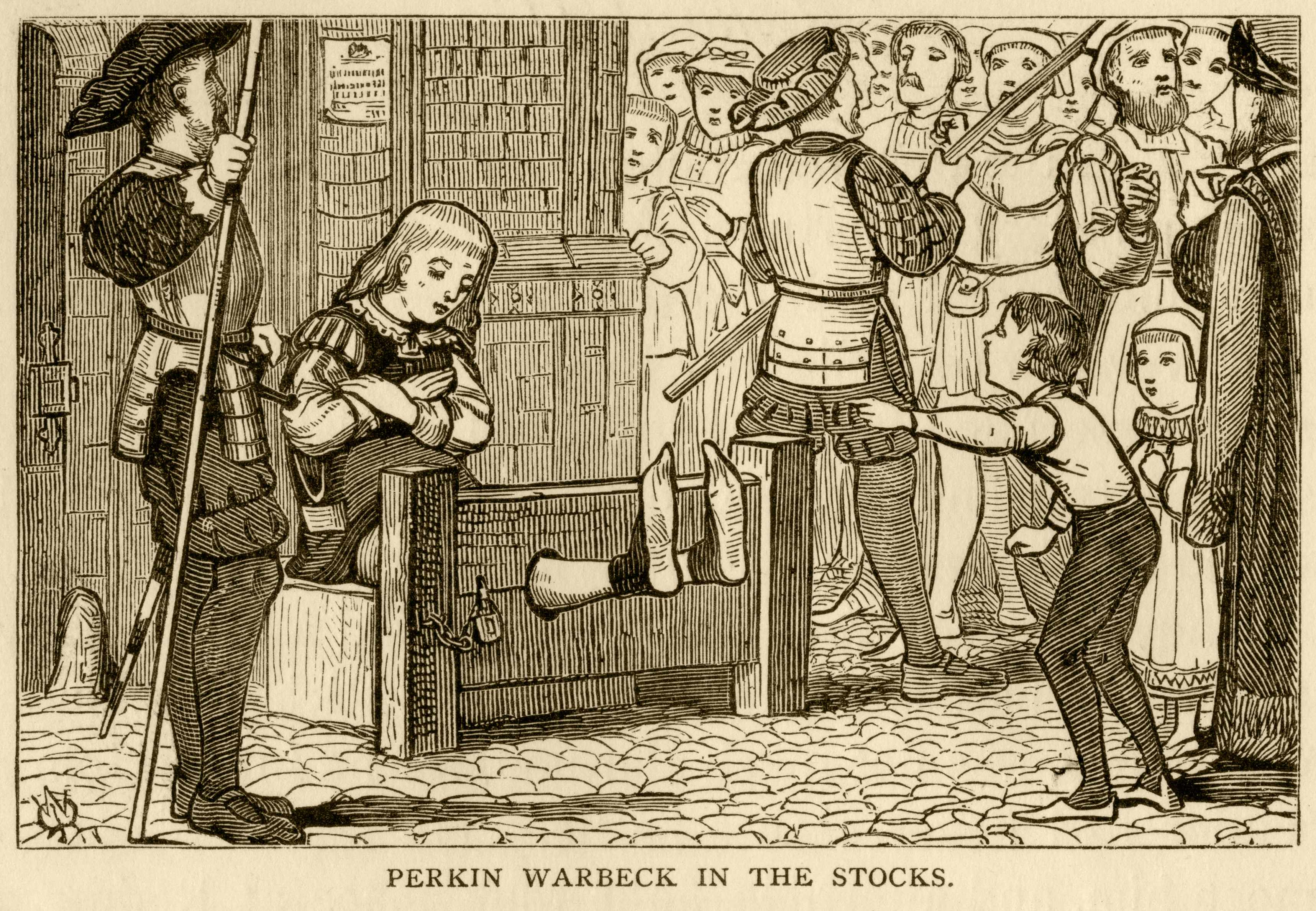 Perkin Warbeck, an imposter and pretender to the English throne, being humiliated in the stocks before his execution in 1499. Warbeck was used by Henry VII's Yorkist enemies in an unsuccessful plot to threaten the new Tudor dynasty. (Getty Images)