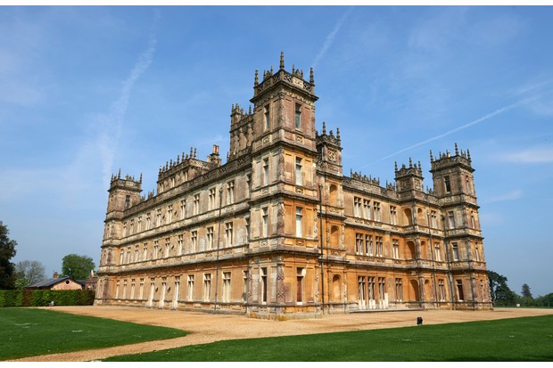 Highclere Castle, where the ITV period drama 'Downton Abbey' was filmed. (Photo by Niklas Halle'n/AFP/Getty Images)