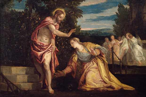 Christ appearing to Mary Magdalene, in a painting by Paolo Veronese (1528-88). In the Beaux-Arts Museum, Grenoble, France. Mary Magdalene is presented in the New Testament gospels as a mourner at the Crucifixion of Christ and witness to his resurrection, but the Mary most familiar to us today is a former prostitute. (Photo by Leemage/Corbis via Getty Images)