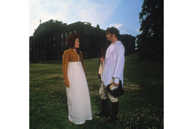 Jennifer Ehle and Colin Firth in the 1995 BBC adaptation of Jane Austen's 'Pride and Prejudice'. (Photo by Everett Collection Inc/Alamy Stock Photo)