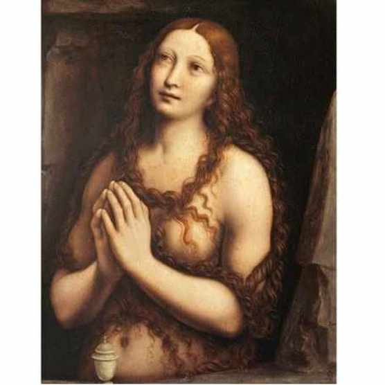 A painting of the repentant Mary Magdalene, found in the collection of State Hermitage, St Petersburg, dating from the 16th century. (Photo by Fine Art Images/Heritage Images/Getty Images)