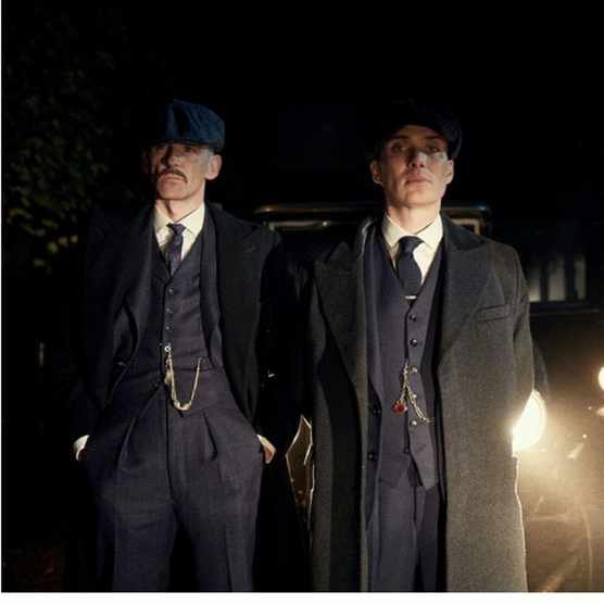 Arthur Shelby (Paul Anderson) and Thomas Shelby (Cillian Murphy) in the period drama 'Peaky Blinders'.(Photo by BBC/Caryn Mandabach Productions Ltd/Tiger Aspect/Robert Viglasky)