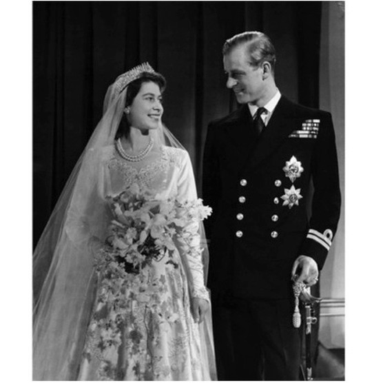 Princess Elizabeth, later Queen Elizabeth II, with her husband Philip, Duke of Edinburgh, after their marriage in 1947. (Corbis via Getty Images)