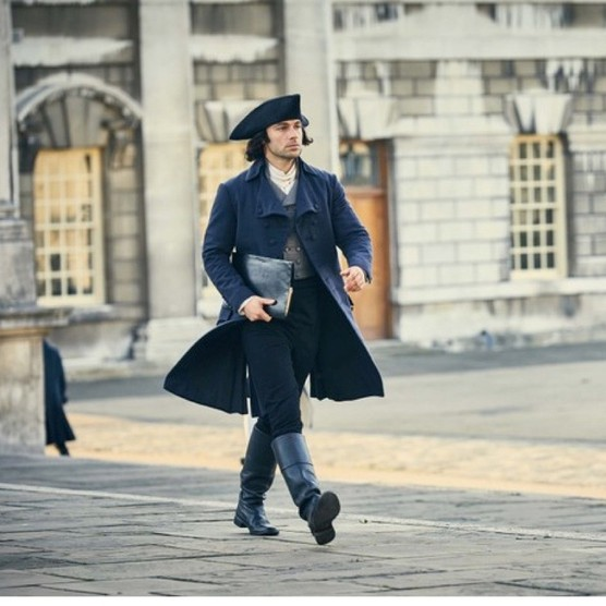 "Ross Poldark in London in the BBC's drama. The capital city was described in contemporary magazines and newspapers as the ""vortex of dissipation"", says Hannah Greig. (Image Credit: BBC/Mammoth Screen/Robert Viglasky)"
