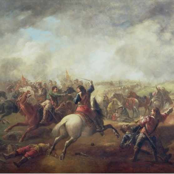"The battle of Marston Moor, the largest clash of the Civil War, depicted in a 19th-century painting. Preventing a slide into chaos required ""diplomatic panache, not Charles's fabled stubbornness"", writes Jonathan Healey. (Photo by A 16th-century portrait of Bess of Hardwick. Bess's talent, ambition and eye for a well-connected husband elevated her to dizzying levels of wealth and power in Tudor England. (Photo by Bridgeman Art Library)"
