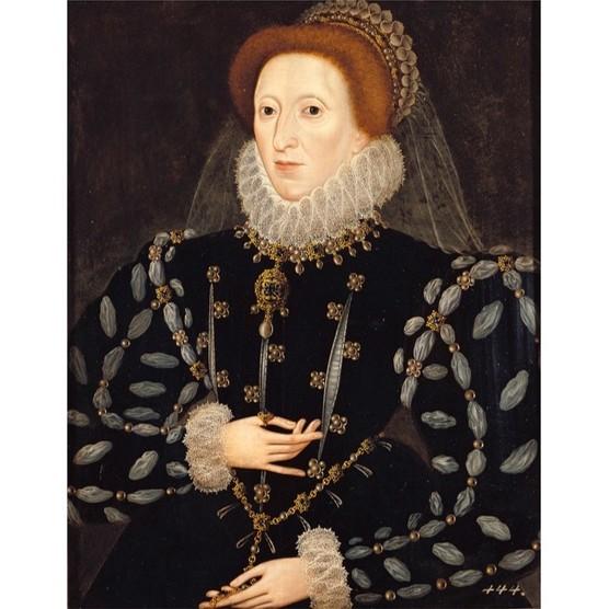 A portrait of Elizabeth I by Nicholas Hilliard. (Photo by Imagno/Getty Images)