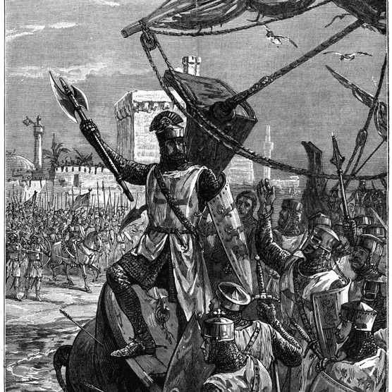 During the Third Crusade, Richard I led the crusaders against the Muslim leader Saladin. (Photo by Universal History Archive/Getty Images)
