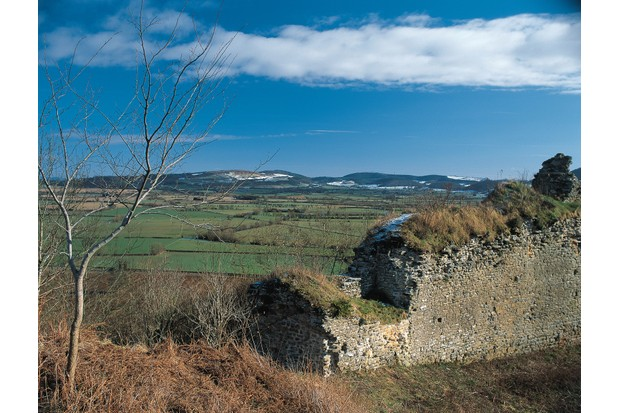 The ruins of Wigmore Castle. (Photo by Getty Images)