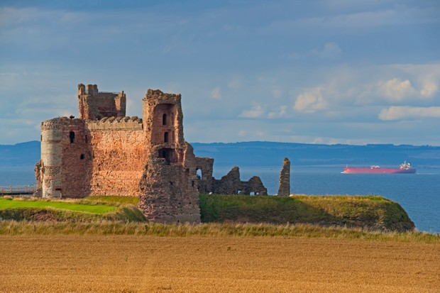 Tantallon Castle has endured many sieges. The final, by Oliver Cromwell in the 17th century, led to some some parts of the castle being robbed for stone. (Photo by Getty Images)