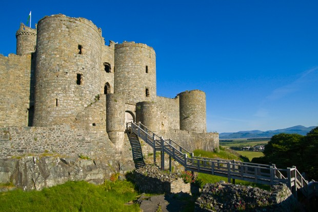 Harlech Castle was fortunate not to suffer the ravages of 'slighting' (to render a castle 'slight' by gunpowder) in the Civil War. (Photo by Dennis Barnes via Getty Images)